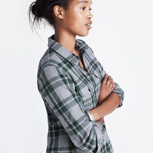 Madewell Flannel Zip-Front Shirt